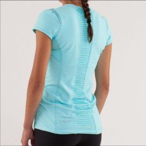 Lululemon Star Runner Short Sleeve Tee Top, Blue 8